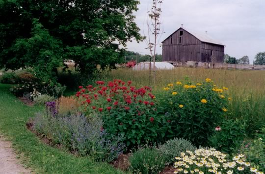 First gardens and greenhouse in 1993