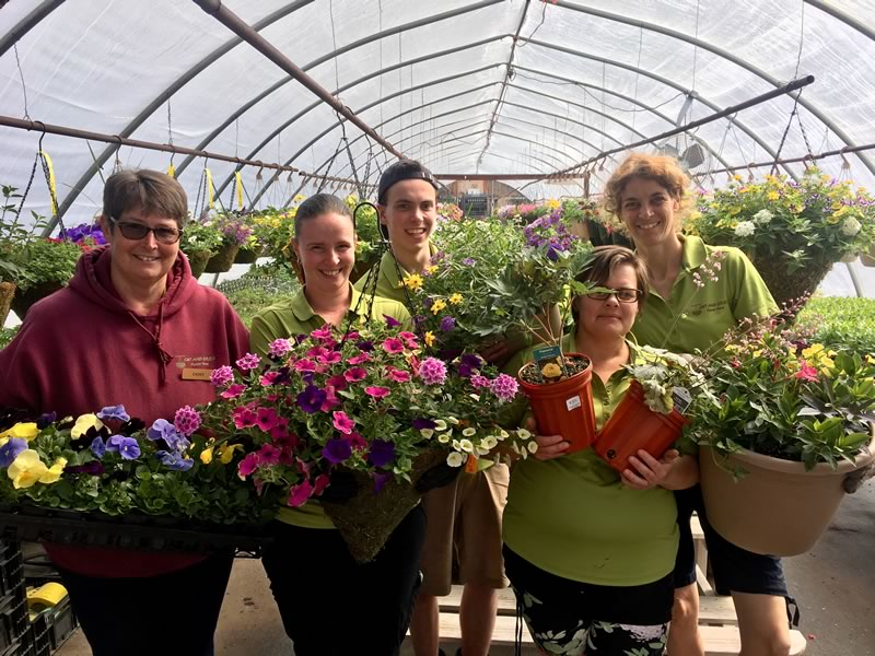 We are so fortunate to have such dedicated and wonderful staff to both grow and sell our plants